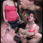 13.03.2016 – 5 foot high girl next door Devilynne tightly tied in strict bondage with epic drooling deepthroat, HD, Extreme