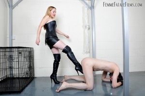 24.03.2016 – FemmeFataleFilms – Ms Nikki – Nikki's Nuts For Busting Update – ball busting, ball crushing, corset, leather
