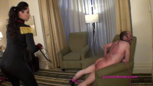 20.03.2016 – GoddessJasmine – Jasmine Mendez – Whipped to Tears – women spanking men, bare bottom spanking