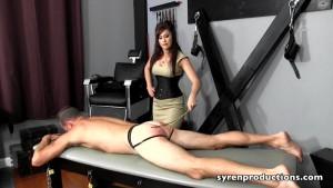 19.03.2016 – SyrenProductions – Goddess Deanna Storm – Caned By His Teacher – women spanking men, bare bottom spanking