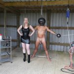 TheEnglishMansion – Mistress Sidonia – Chained and Drained – nipple suction machine, pvc boots, rosebuds