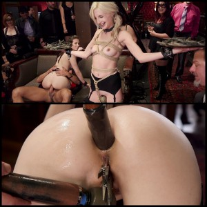 16.03.2016 – Petite Blond Sex Slave Split on Huge Cock HD, Bondage, Extreme