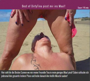 14.03.2016 – Best of DirtyTina pisst mir ins Maul – drink urine, golden shower, lesbo piss
