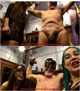 29.03.2016 – Aliceinbondageland – Mature Metal – Chastity Fashion Show – cock crush, balls crush, ball stomping