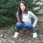 26.03.2016 – Eveline – He missed his date – pissing, public piss, solo