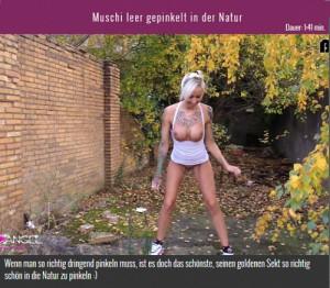 14.03.2016 – Muschi leer gepinkelt in der Natur – extreme, fetish, German Pissing, outdoor