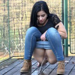 14.03.2016 – On The Decking – brunette pissing, fetish, got2pee