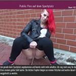 24.03.2016 – Public Piss auf dem Sportplatz – fetish, german piss, golden shower