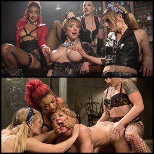 21.03.2016 – All Girl Gangbang at the Dyke Bar HD, extreme, fetish, lesbian