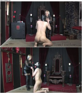 Release 31.03.2016 – FemmeFataleFilms – Mistress Johanna – Pet Slave Part 1 – leather thigh boots, nipple torment, depfile