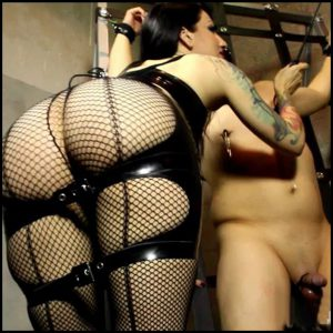 Release 18.04.2016 – CybillTroy – Cropped Cock – HD, balls, bondage, cross, weights, pantyhose, depfile