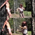 Release 02.04.2016 – Clubdom – Whipped in the Forest – bare bottom spanking, slave torture, depfle
