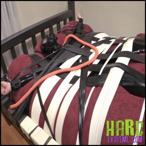 Release 25.06.2016 – Bouncer And The Inflatable Bed (R270) Seriousmalebondage – HD, Bouncer Pup, E-Stim, gas-mask, Rank, Rubber