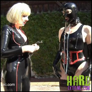 Release 15.07.2016 – Water Play – Anna Rose and Amarantha LaBlanche Part 1. AlterPic – HD, Latex Mask, Leash, Nylon, Outdoors, penetration
