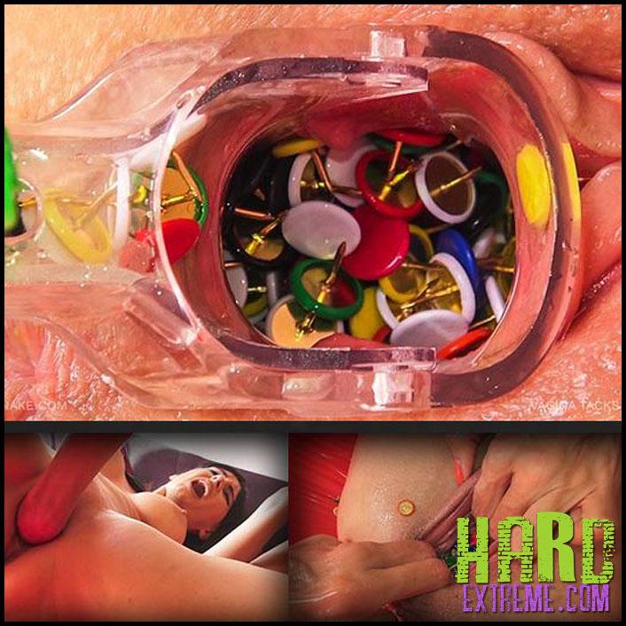 Queensnake - VAGINA TACKS - TANITA - Full HD-1080p, queensnake.com, Tanita, stuffing, thumbtack