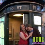 Release September 15, 2016 – Aliceinbondageland – Piss Pants Public Toilet Humiliation – Mistress Alice and Madame TrixieFou – Full HD-1080p