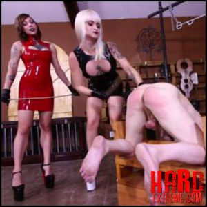 Clubdom – Dahila Rain & Harlow Punish Him Like A Dog –  slave torture, punishment, cane, caning (Release October 24, 2016)