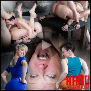 Bonnie Day & Dee Williams bound in a Sexually Broken Sixty Nine. Brutal face and pussy fucking – HD, Drool, Extreme Rough Sex (Release April 01, 2017)