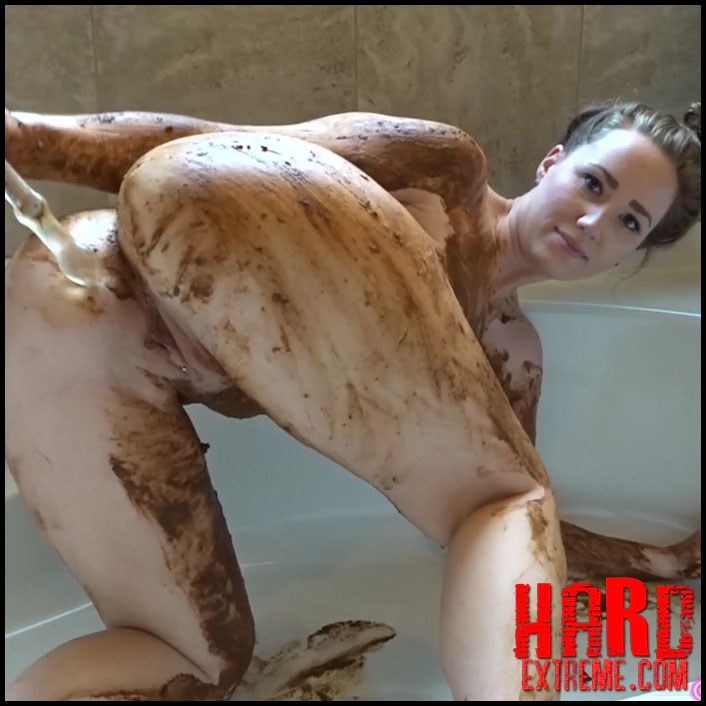 Goddess Ryan - Body Smear Shit Anal Glass Fuck - Creampie My Asshole