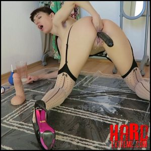 Milk enema & both holes fucking – Mylene – Full HD-1080p, Enema, Enemas, Large toys (Release April 14, 2017)