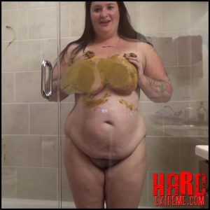 Samantha Starfish – Glass Shower Pooping And Smearing – Full HD-1080p, smearing, their, while, with, big pile (Release April 03, 2017)