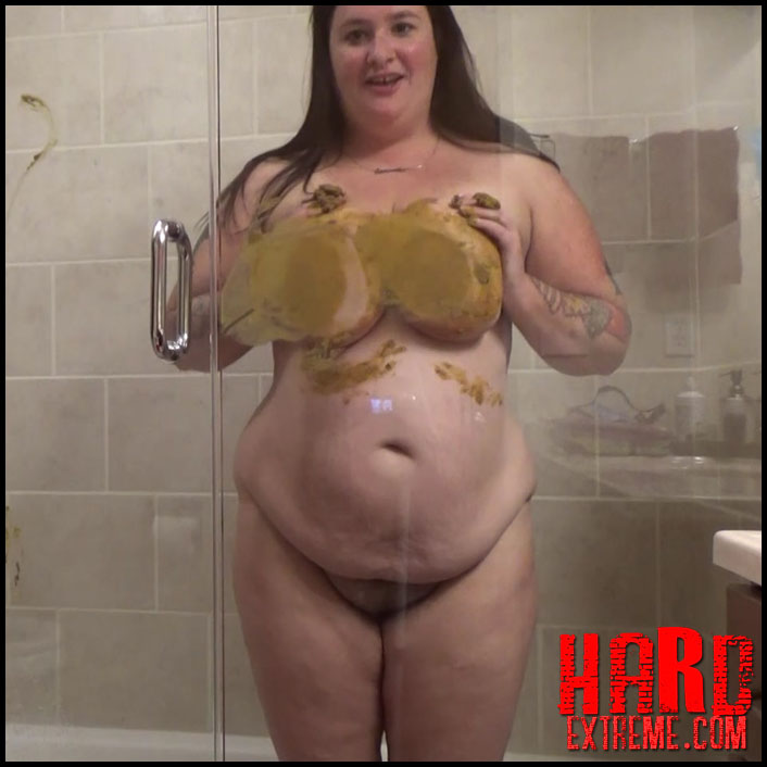 Samantha Starfish - Glass Shower Pooping And Smearing - Full HD-1080p, smearing, their, while, with, big pile (Release April 03, 2017)