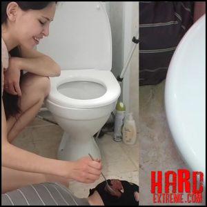 PooAlina – Toilet slave swallows Alina shit – Full HD-1080p, scatting domination, femdom scat (Release May 26, 2017)