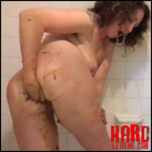 Scat Goddess Amanda – Bathtub Enema Scat Play – Full HD-1080p, shit smeared, smearing, enema (Release May 20, 2017)