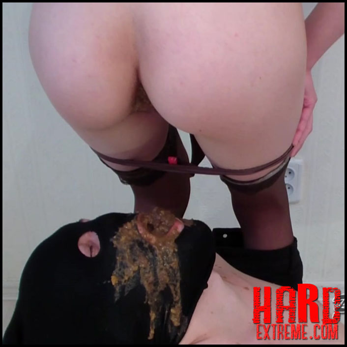 PooAlina - Alina long endures and bombs the mouth of the toilet slave with shit and diarrhea