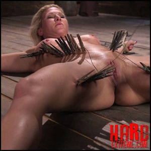 Ariel X is tormented in brutal bondage and double penetrated – HD, ball gag, the pope (Release July 08, 2017)