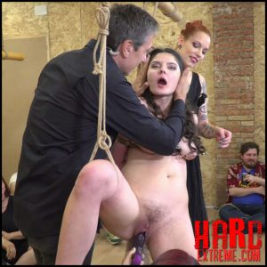 PublicDisgrace – Young Whore Francesca DiCaprio Shamed, Tied-Up, and Fucked in Public – HD-720p, public submission, Corporal Punishment (Release October 05, 2017)