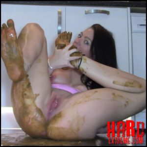 Evamarie88 – Huge Shit And Shitty Feet – Full HD-1080p, amateurs scat, dirty anal, scat porn (Release April 04, 2018)