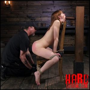 Red Headed Rope Slut Gets Brutalized and Made to Cum – HD-720p, Vaginal Penetration, pain, Fingering (Release April 13, 2018)