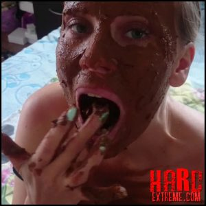Brown wife – Mouth full of shit – Full HD-1080p, dirty anal, scat porn, russian scat (Release May 19, 2018)