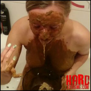 Brown wife – Extreme methods of personal hygiene – Part 2 – Full HD-1080p, poop videos, amateurs scat, vomiting (Release May 20, 2018)