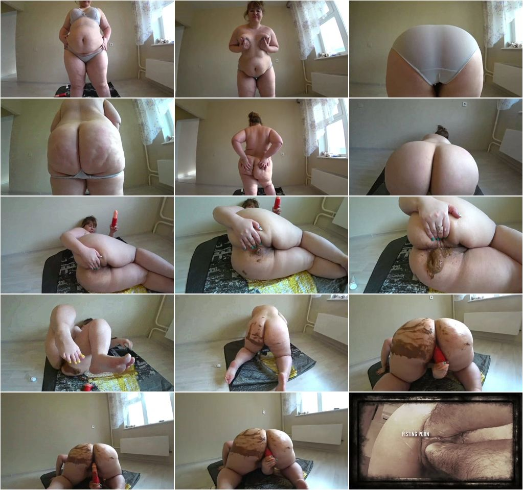 Fucking In Shit Porn rushscat – bbw scat and fuck dirty dildo, smears shit on the
