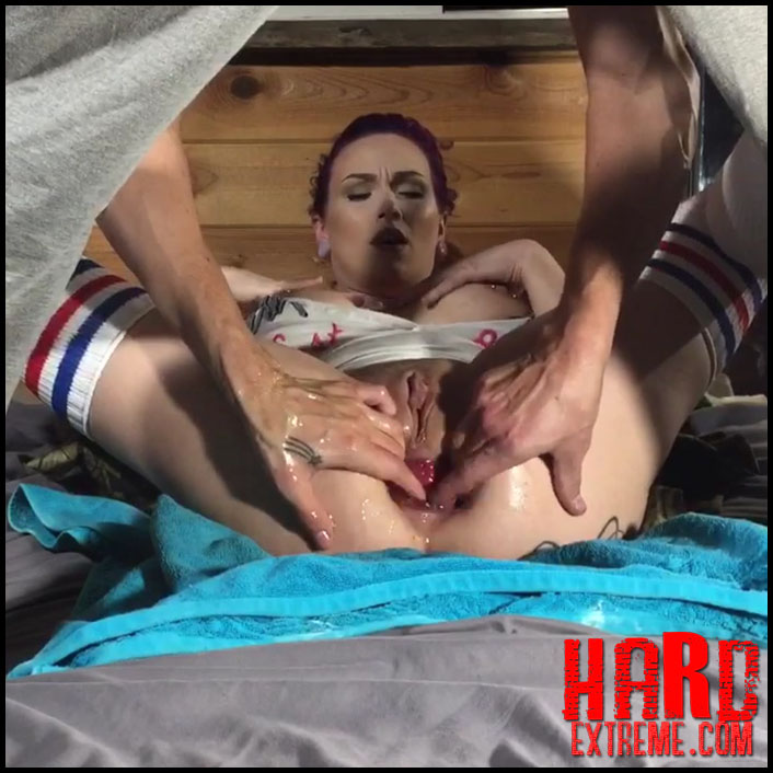 LilySkye penetration monster horse dildo and gets fisted from her ...