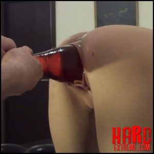 Skinny girl penetration big bottle, dildo and huge eggplant in cunt – Full HD-1080p, huge dildo, monster dildo, pussy insertion (Release July 16, 2018)