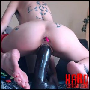 Tattooed punk girl angelsdaniel rides on a BBC dildo and feel orgasm – Full HD-1080p, long dildo, pussy insertion, webcam (Release July 16, 2018)