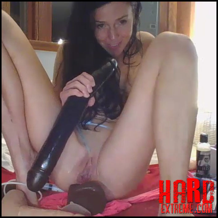 Girl Rides Squirting Dildo