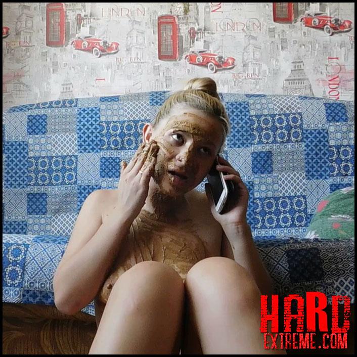 KatyaKASS - Shit and talking on the phone