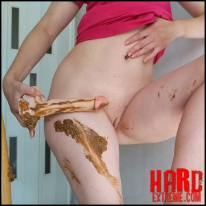Nastygirl – Pooping on dildo and playing with it – Full HD-1080p, amateurs scat, dirty anal, scat porn (Release September 18, 2018)