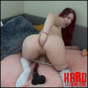 Deepthroating and Large Toy + Fist Anal – MissPrincessKay – Ass Penetration