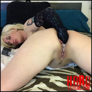 Anal panty stuffing – anal fisting too – Badlittlegrrl – Ass Fisting