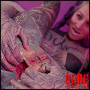 Latex, NEEDLE, anal rosebutt play – Anuskatzz – Hard Extreme, Crazy Girl