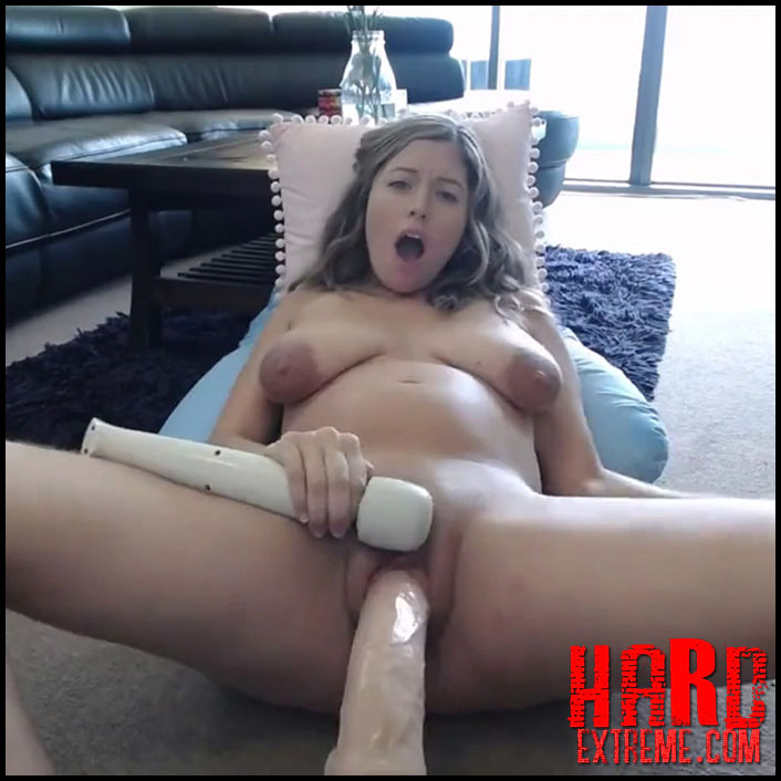 Amateur Giant Dildo Orgasm