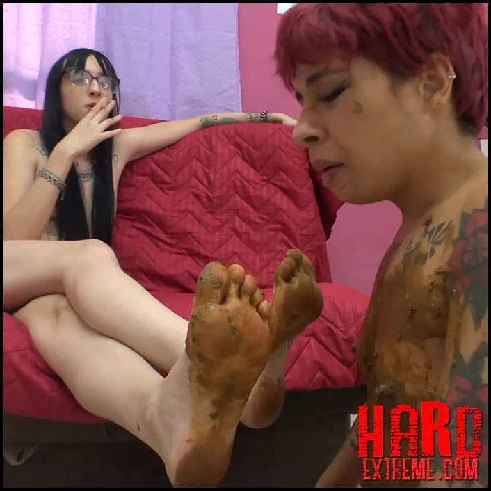 Feet scat Lesbian scat